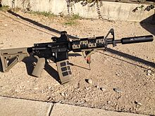 Modified AR-15 courtesy of Wikipedia.